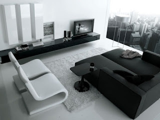 sala color blanco y negro