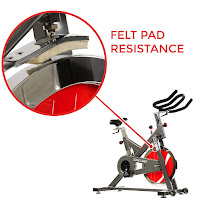 Sunny Health & Fitness SF-B1712 Indoor Cycle felt pad resistance, image