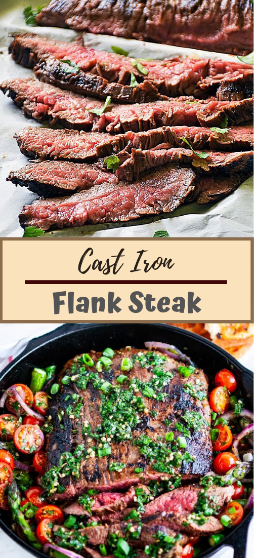 Cast Iron Flank Steak #dinnerrecipe #food #amazingrecipe #easyrecipe