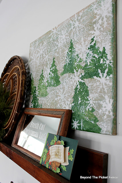 How to Stencil A Temporary Christmas Picture