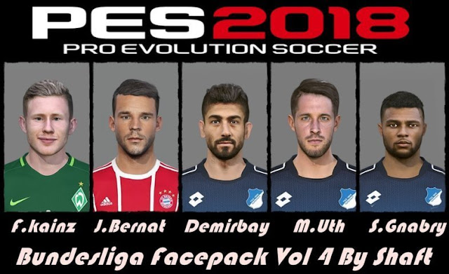 Bundesliga Facepack Vol.4 PES 2018