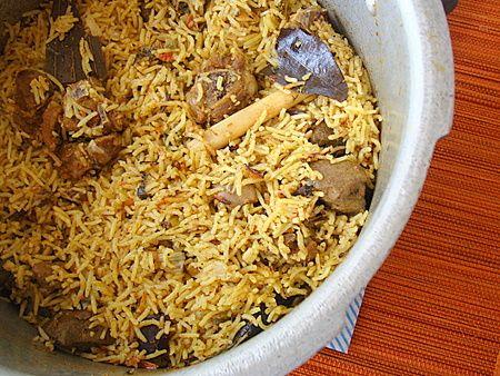 Goat Briyani Rice Recipe