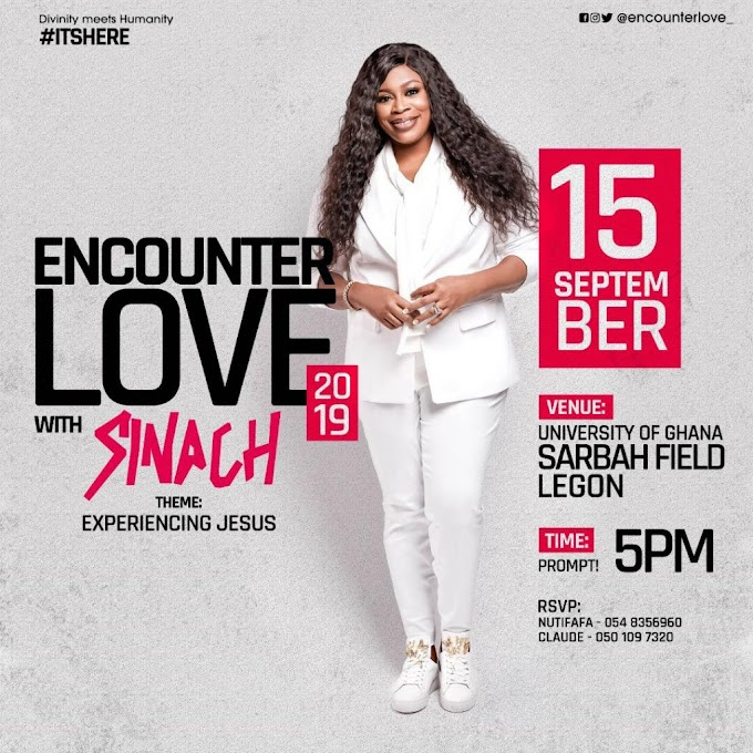 Sinach to headline Encounter Love 2019 in September