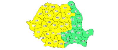 viharriadó, Románia, Székelyföld, ANM, esőzések, szélvihar,