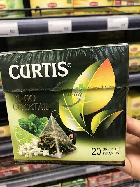 tTrà đen CURTIS HUGO COCKTAIL vị chanh bạc hà và hoa bưởi
