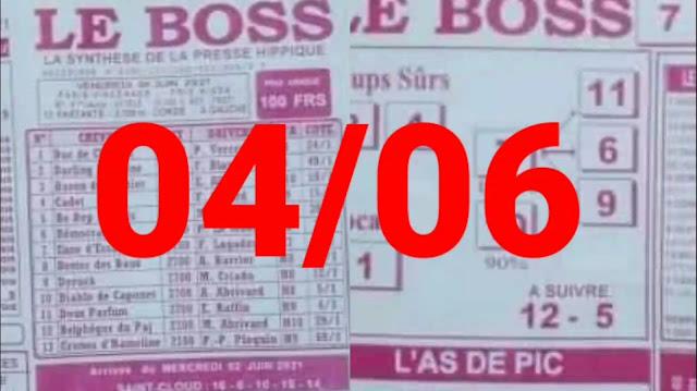 Pronostics quinté+ pmu Vendredi Paris-Turf TV-100 % 04/06/2021