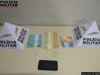 PM de Almenara prende casal por tráfico de drogas