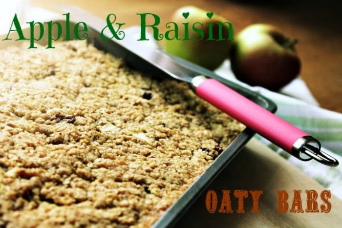 Apple and Raisin Oaty Bars