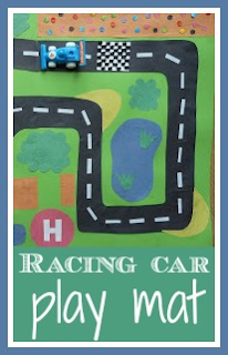 How to make a racing car play mat
