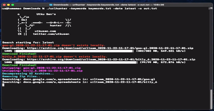 Urlhunter : A Recon Tool That Allows Searching On URLs That Are Exposed Via Shortener Services