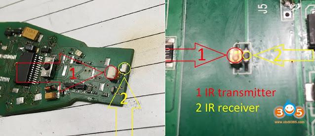 Change CGDI MB IR transmitter and receiver 4