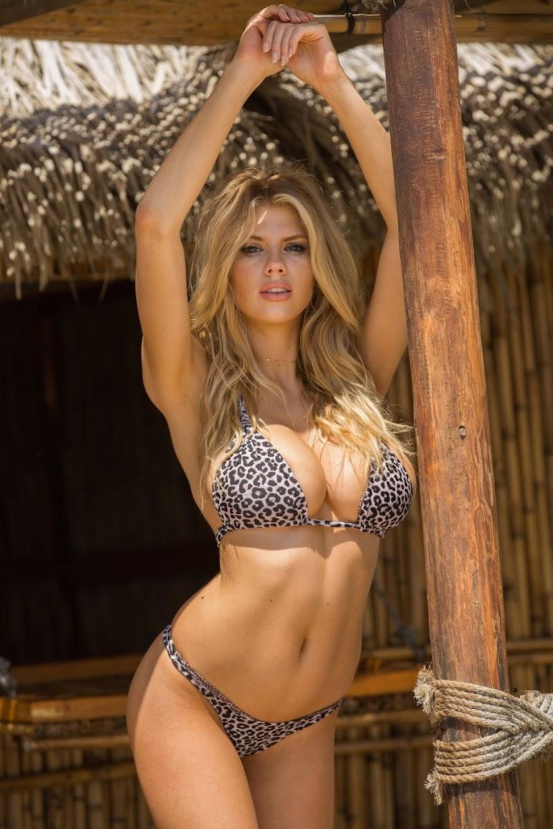 Charlotte McKinney Clicked in a Leopard Print Bikini at a Beach in Los Angeles  8 Dec-2020