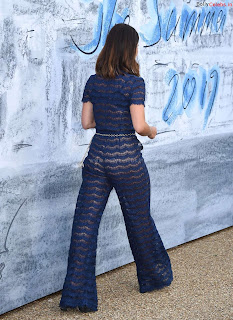 Jenna Coleman in beautiful Blue See Through Jumpsuit ~ bollycelebs.in Exclusive Celebrity Pics 001