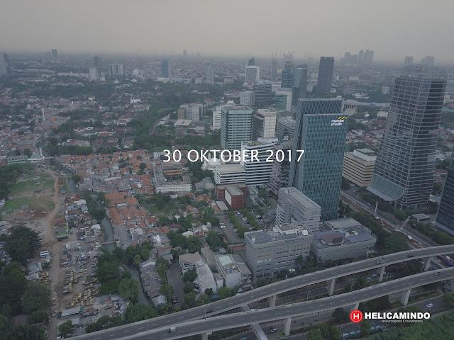Foto Udara Jakarta Kawasan Kuningan Tahun 2017