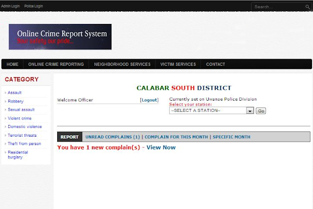 ONLINE CRIME REPORT SYSTEM PHP SOURCE CODE