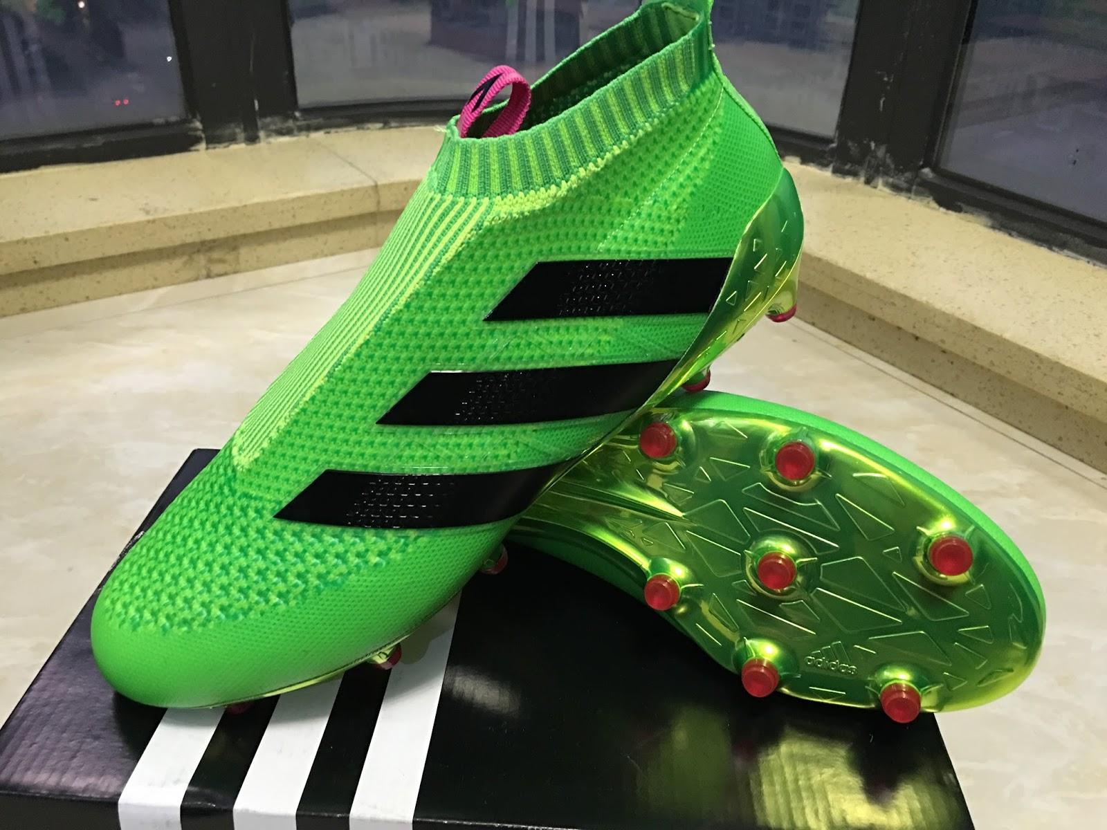 5e18342ce1e adidas - ACE 16+ PureControl FG AG Solar Green Shock Pink Core Black