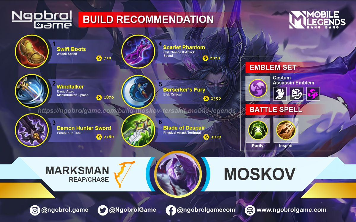 Build Moskov Savage Mobile Legends