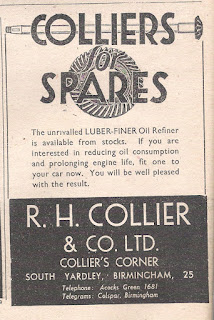 R H Colliers advert from Motor 22 December 1943