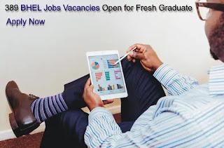 389 BHEL Jobs Vacancies Open for Fresh Graduate