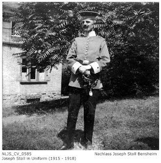 Joseph Stoll in Uniform 1915-1918; Nachlass Joseph Stoll Bensheim, Stoll-Berberich 2016