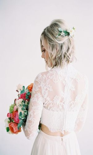 Idee coiffure mariage cheveux courts