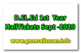 D.EL.Ed 1st  Year HallTickets Sept -2020