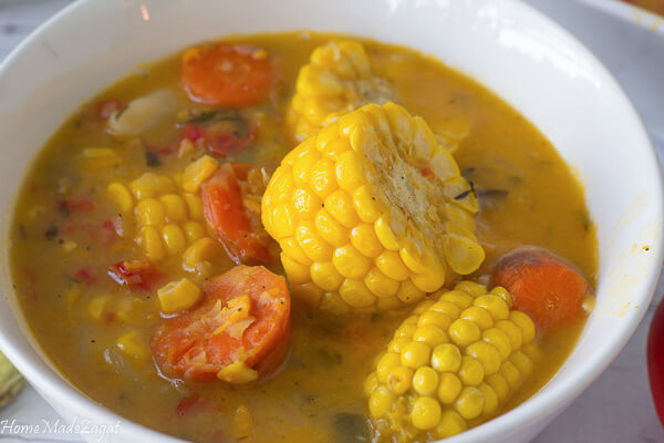 How to make Trinidad Corn Soup