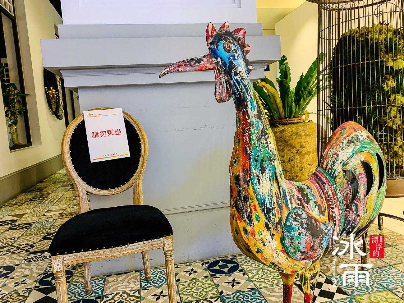 WOOTAIWAN大直ATT店|門口裝飾公雞非常搶眼