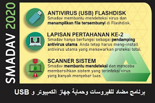 Smadav 2020 Pro 13-5 برنامج مضاد للفيروسات وحماية جهاز الكمبيوتر و USB