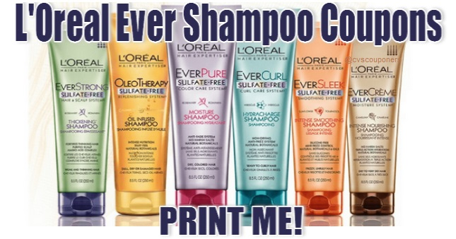 L'Oreal Ever Shampoo Coupons Print Now