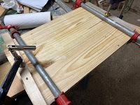 Boards glued together
