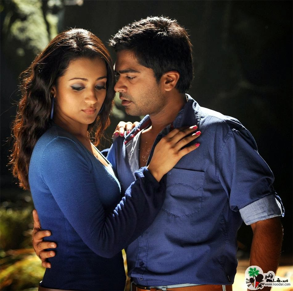The gallery for --> Trisha Krishnan Hot Kiss With Simbu