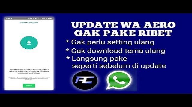 Cara Update Whatsapp Aero