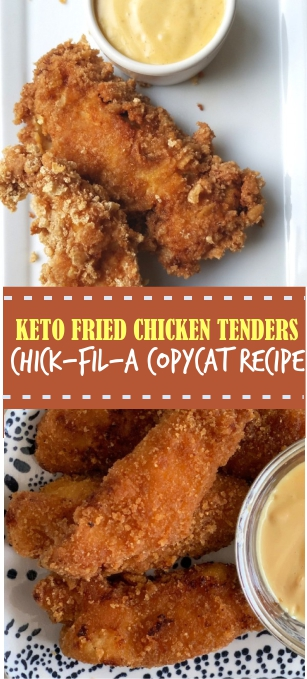 KETO FRIED CHICKEN TENDERS CHICK-FIL-A COPYCAT RECIPE