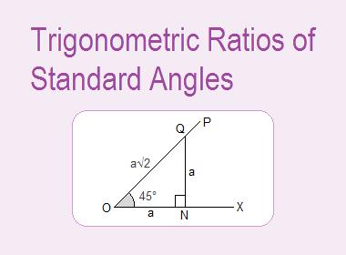 Trigonometric Ratios of Standard Angles