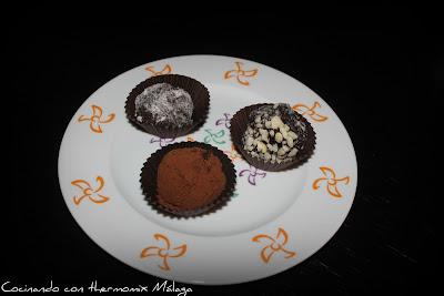 Rocas heladas de chocolate