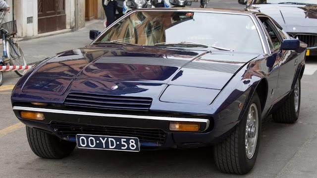 Maserati Khamsin 1970s Italian classic sports car