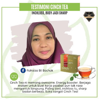 Testimoni Cinch Tea Mix - Bantu Kurangkan Berat Badan