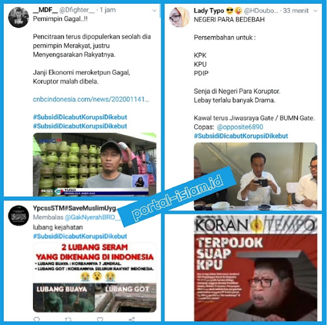 Ramai Tagar 'Subsidi Dicabut Korupsi Dikebut', Netizen: Pemimpin Pencitraan Gagal..!!