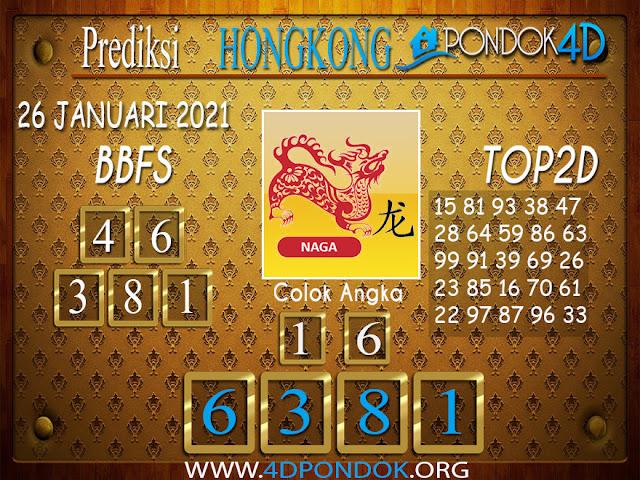 Prediksi Togel HONGKONG PONDOK4D 26 JANUARI 2021