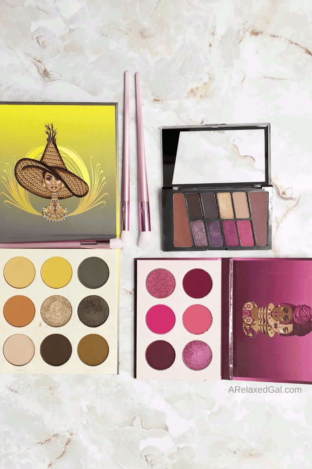 Multiple Eyeshadow Palettes For Dark Skin | A Relaxed Gal