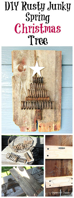 Industrial Spring Christmas Tree Tutorial www.organizedclutter.net