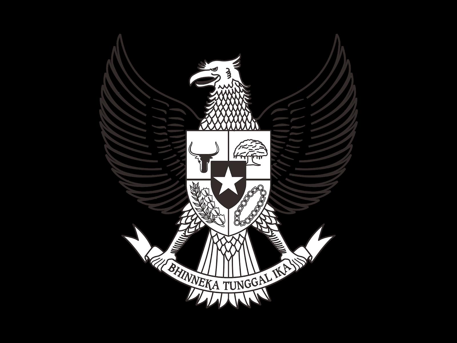 Logo Pancasila Hitam Putih Vector Cdr Png Hd Biologizone