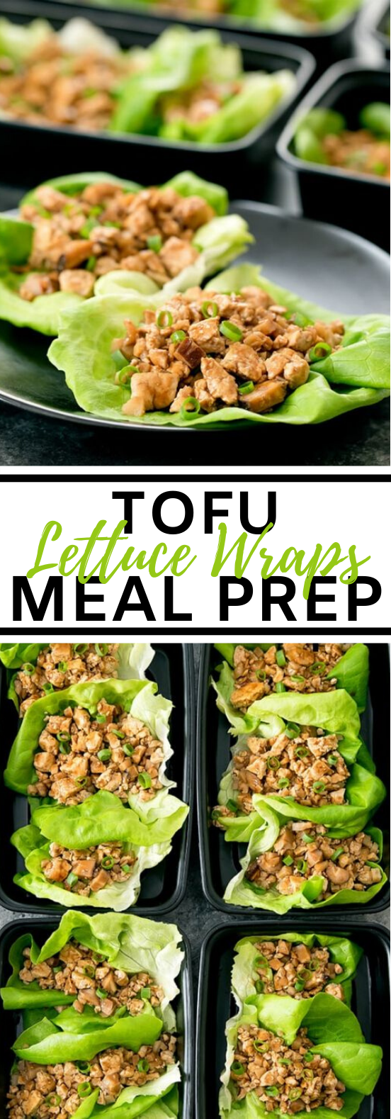 Tofu Lettuce Wraps Meal Prep #vegetarian #recipes #lunch #mealprep #healthy