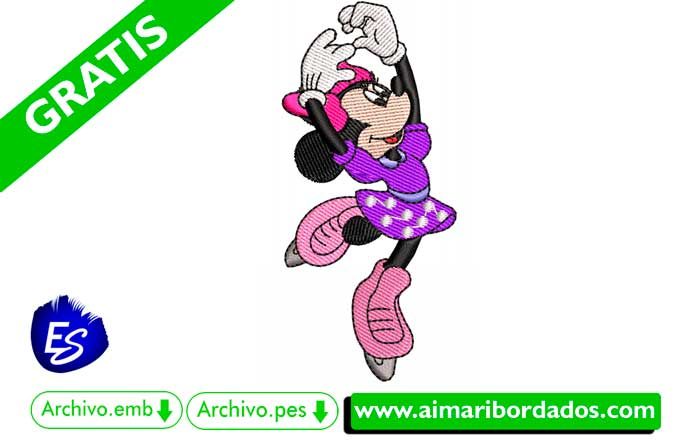 Bordado Minnie Mouse Bailando Descargar Gratis