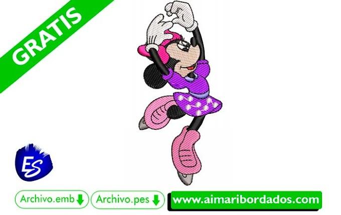 Bordado Minnie Mouse Bailando 🚀 Descargar Gratis