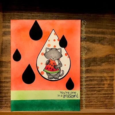 You're one in a melon by A. Rose features Newton's Melon by Newton's Nook Designs; #newtonsnook
