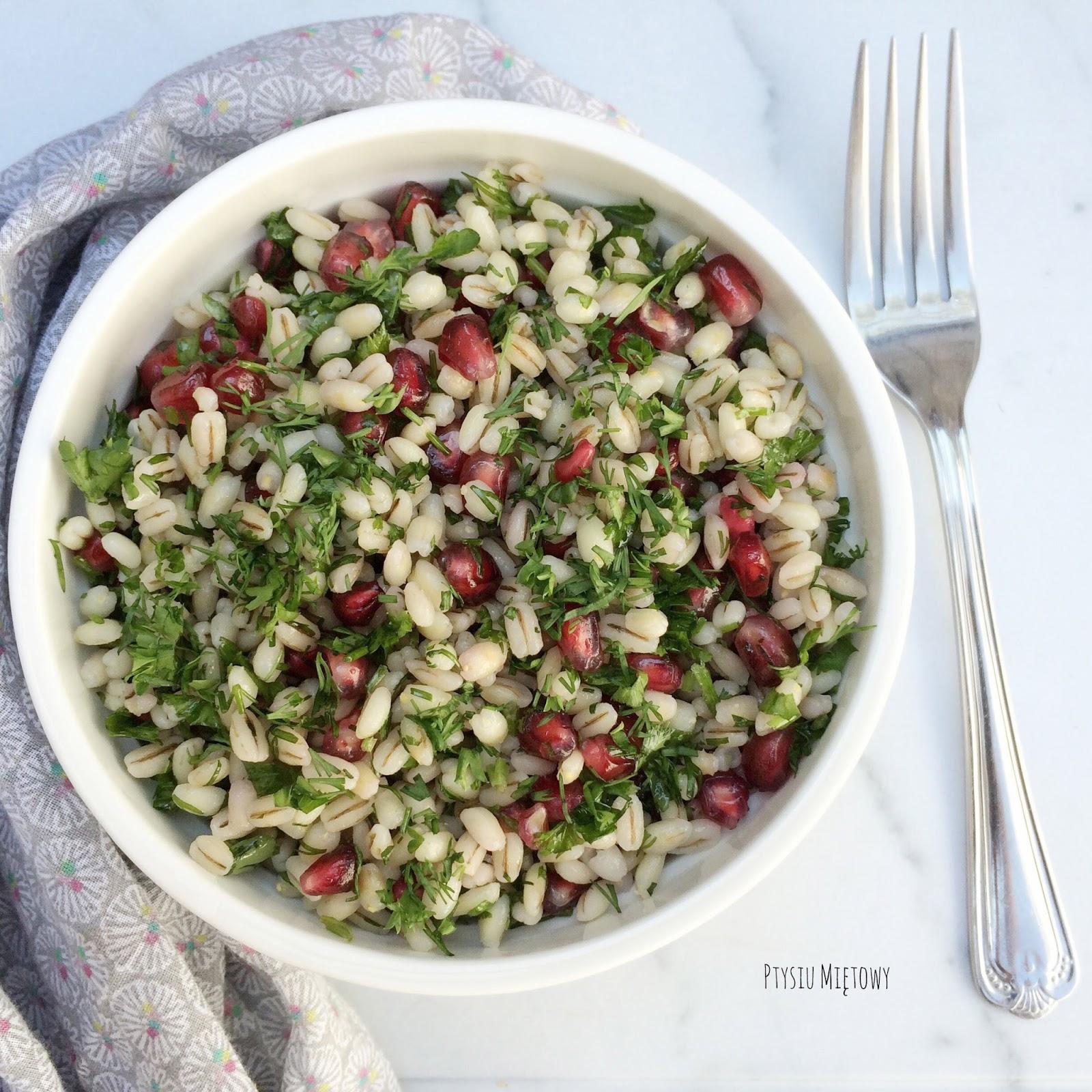 salatka, peczak, ptysiu mietowy