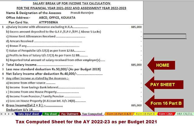 Automated Income Tax Calculator