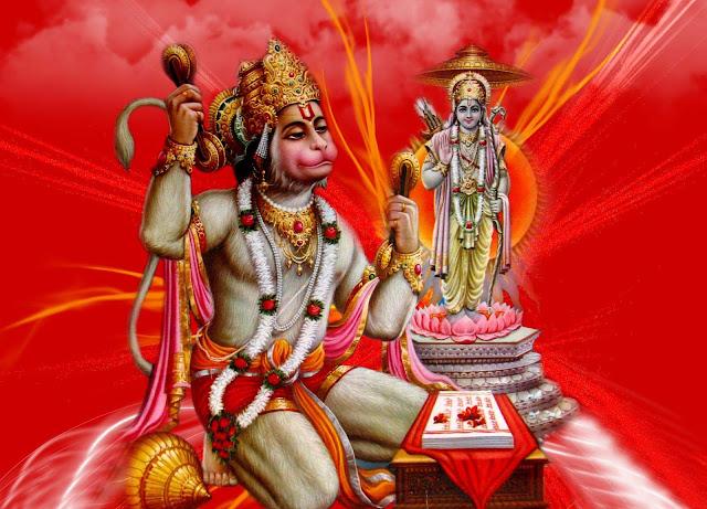 Best Lord Hanuman  Wallpaper In Red Background